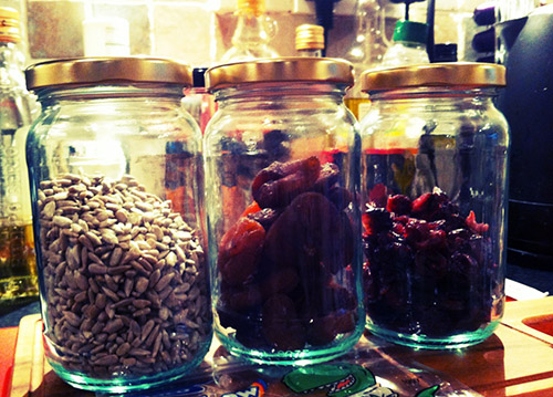 Trail mix jars