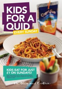 Kids eat for £1 at The Slug and Lettuce on Sundays
